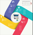 infographic modern design template 8 vector image vector image