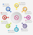 infographic template with wellness icons vector image
