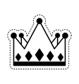 king crown isolated icon vector image