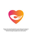 love care creative logo concepts heart care logo vector image