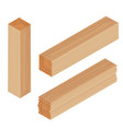 lumber beam plank vector image vector image