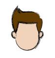 man avatar head male character vector image