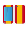 mobile phone case with the flag of spain vector image vector image