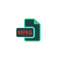MPEG Icon vector image vector image