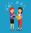 musician couple in concert vector image vector image