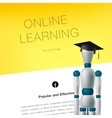 Online learning concept template vector image vector image