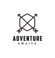 outdoor adventure archer hunter travel badge logo vector image vector image