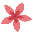 pink flower on white background vector image vector image