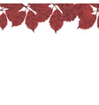 Red Leaves Border vector image vector image