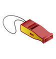red whistle icon isometric style vector image