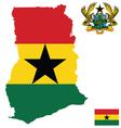 Republic of Ghana Flag vector image