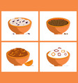 rice and buckweat collection vector image vector image