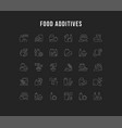 set line icons food additives vector image