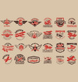 set of airplane training center emblems design vector image vector image