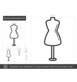 sewing mannequin line icon vector image vector image