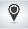 shield marker icon vector image