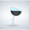 silhouette of broken wine glass vector image vector image
