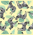 sketch seamless pattern with wild animal zebra vector image vector image
