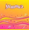 summer on sandy beach stylized vector image