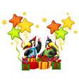 toucan celebrate a birthday vector image vector image