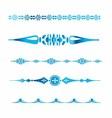 Vintage Lines Element for Border Design Set vector image