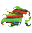 Watercolor woman with long hair vector image vector image
