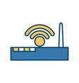 wifi internet symbol vector image
