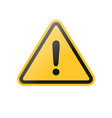 yellow exclamation warning sign vector image vector image