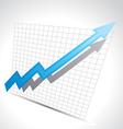 business arrow vector image
