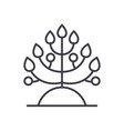 plantbiology line icon sign vector image