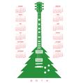 2014 Christmas guitar Calendar 2 vector image vector image