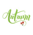 autumn hand drawn doodle lettering label art vector image