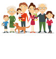 Big and happy family portrait vector image
