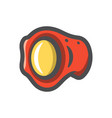 boxing red belt icon cartoon vector image