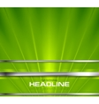 Bright green beams and silver stripes design vector image