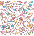 Candies Seamless Pattern Hand Drawn vector image vector image