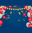 celebration party banner with red and white vector image vector image