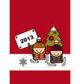 Christmas Card Design vector image