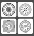 classic design mechanical wristwatch vector image vector image