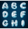 cloud alphabet for design vector image vector image
