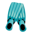 colorful diving fins graphic vector image