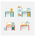 computer and table design vector image vector image