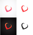 Concept Hearts on different backgrounds vector image vector image