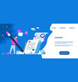 content writer landing page blog articles and vector image