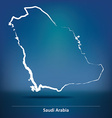 Doodle Map of Saudi Arabia vector image vector image