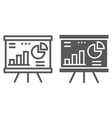 financial analysis line and glyph icon finance vector image vector image