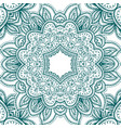 floral mehendi pattern ornament vector image vector image