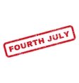 Fourth July Text Rubber Stamp vector image vector image