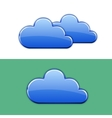 Glossy cloud icon vector image vector image