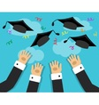 graduates and the joy of graduation vector image vector image